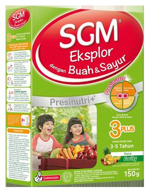 SGM Eksplor 3PLUS dengan Buah & Sayur