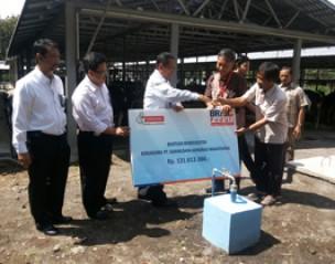 <strong>Sarihusada Terima Sumbangan Biodigester Untuk Program Merapi dari BRI</strong>